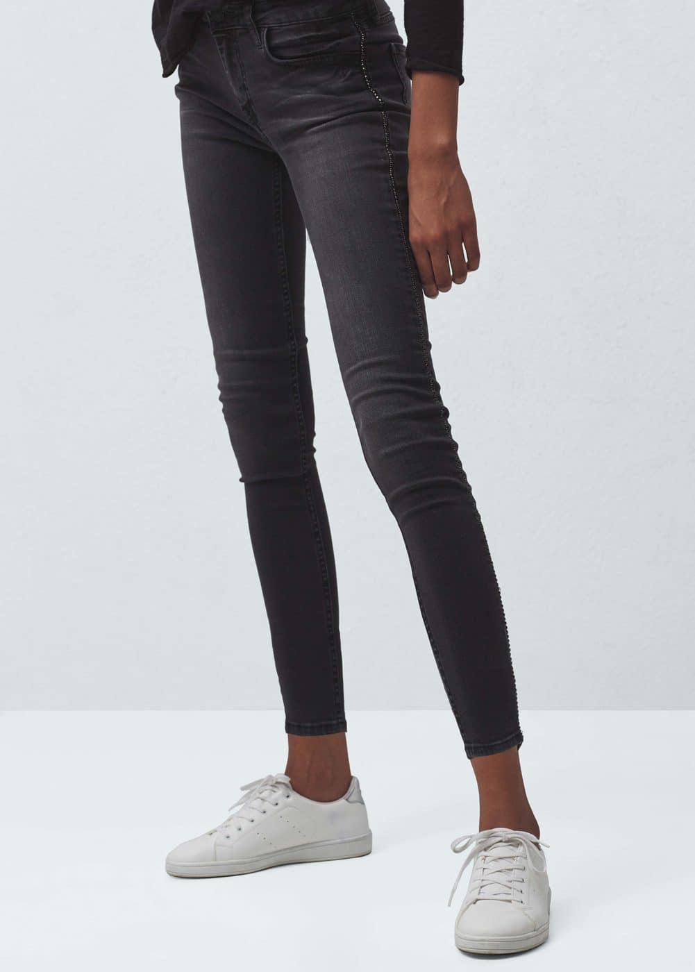 Shinny usa shinny crop skinny jeans women mango usa