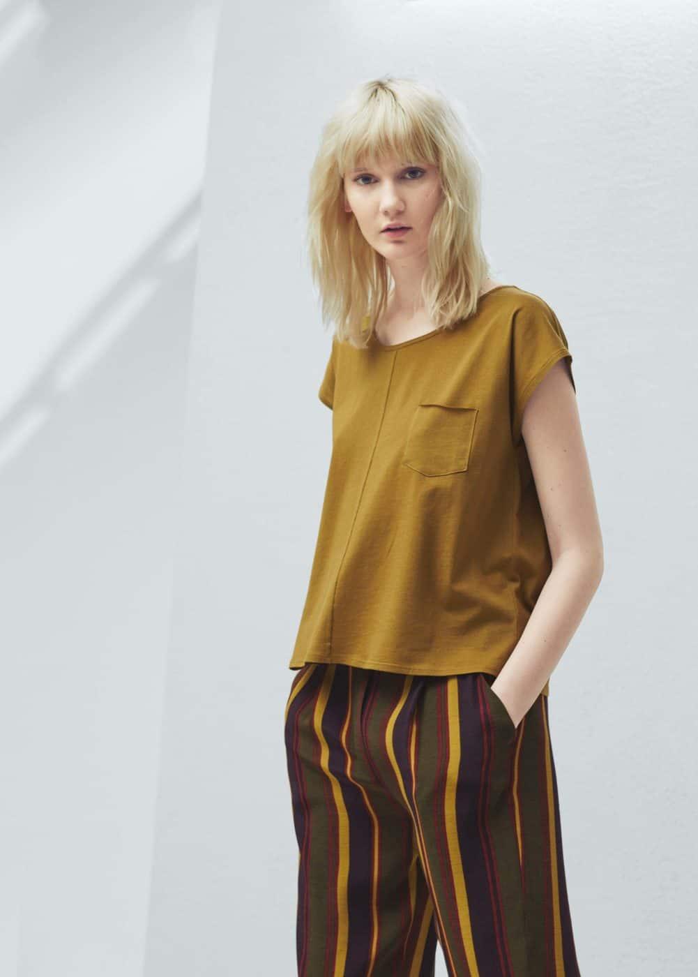 Koszulka z organicznej bawełny | MANGO