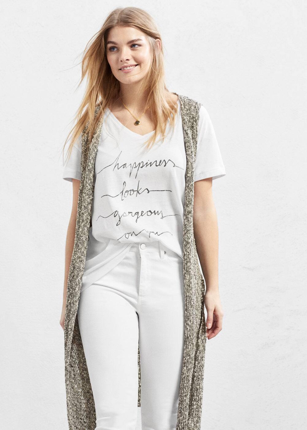 Message t-shirt | VIOLETA BY MANGO