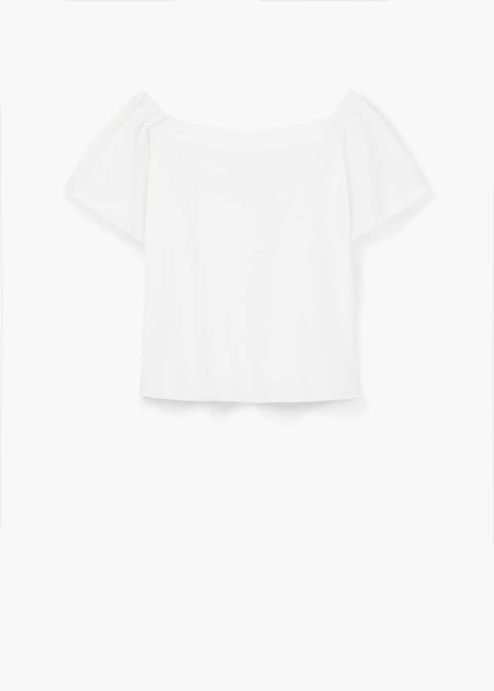 Camiseta escote bañera   MANGO