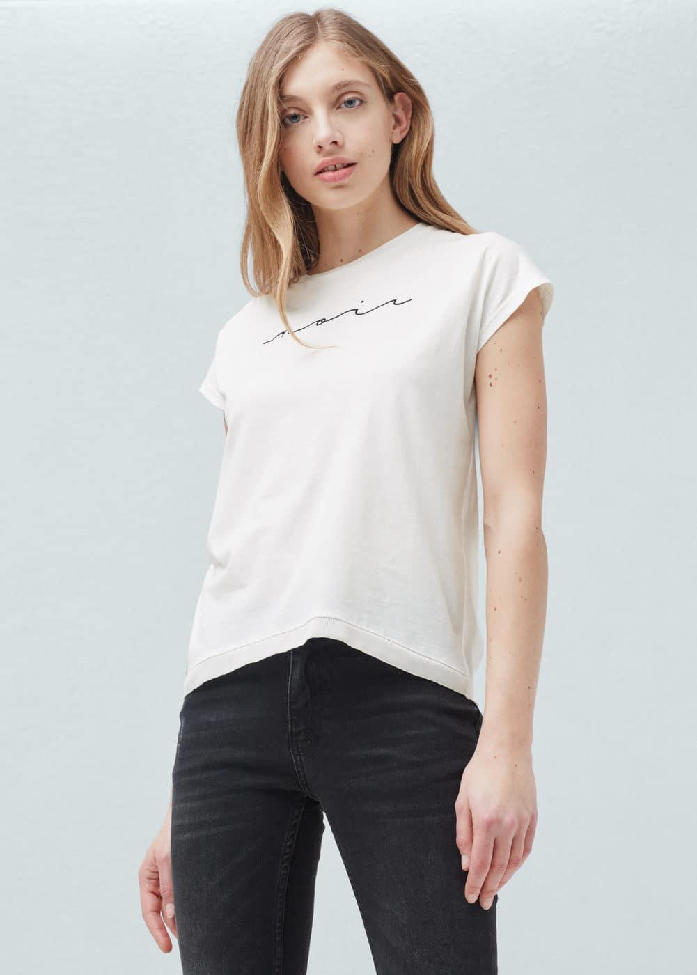 Message modal-blend t-shirt | MANGO