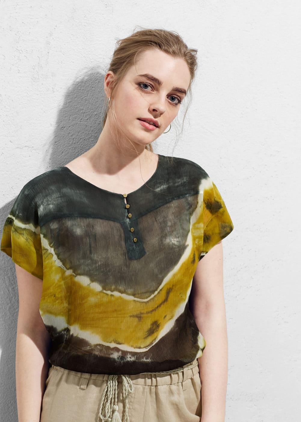 Blouse tie-dye | VIOLETA BY MANGO