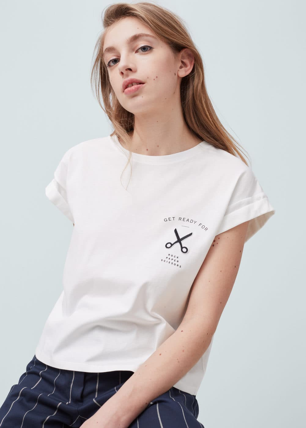 Cotton modal-blend t-shirt | MANGO