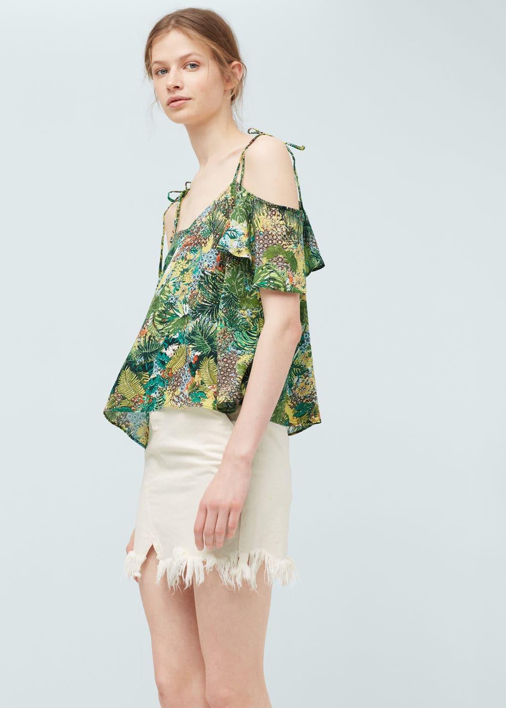 Tropical print top | MANGO