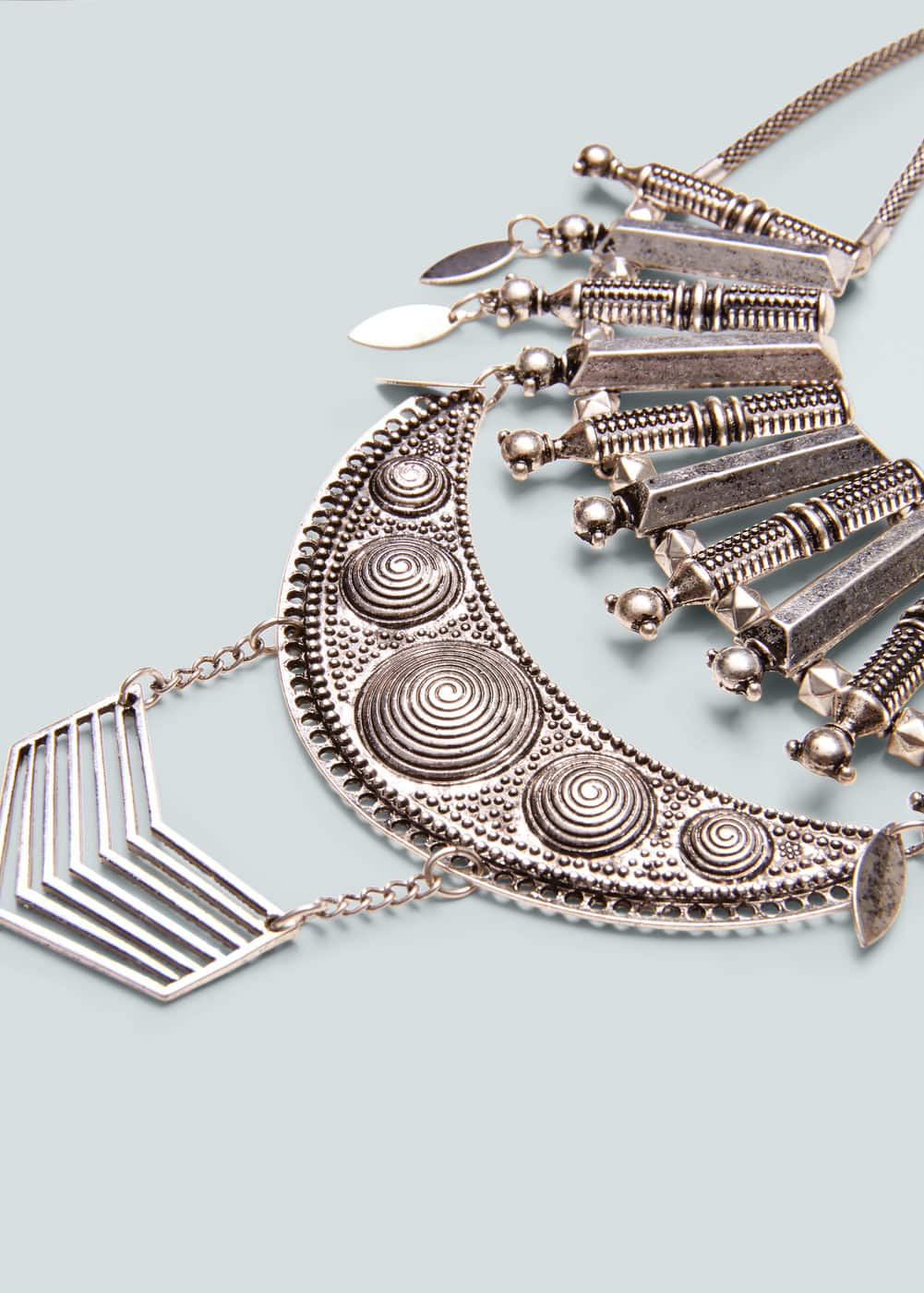Metal bead necklace | MANGO