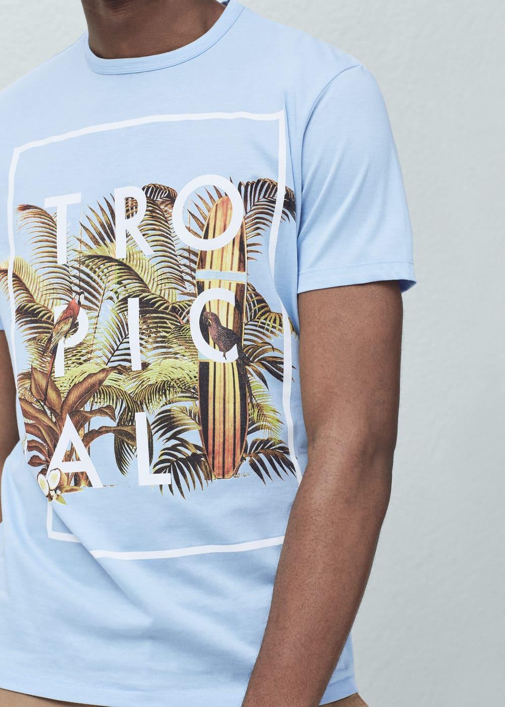 Tropical print t-shirt | MANGO