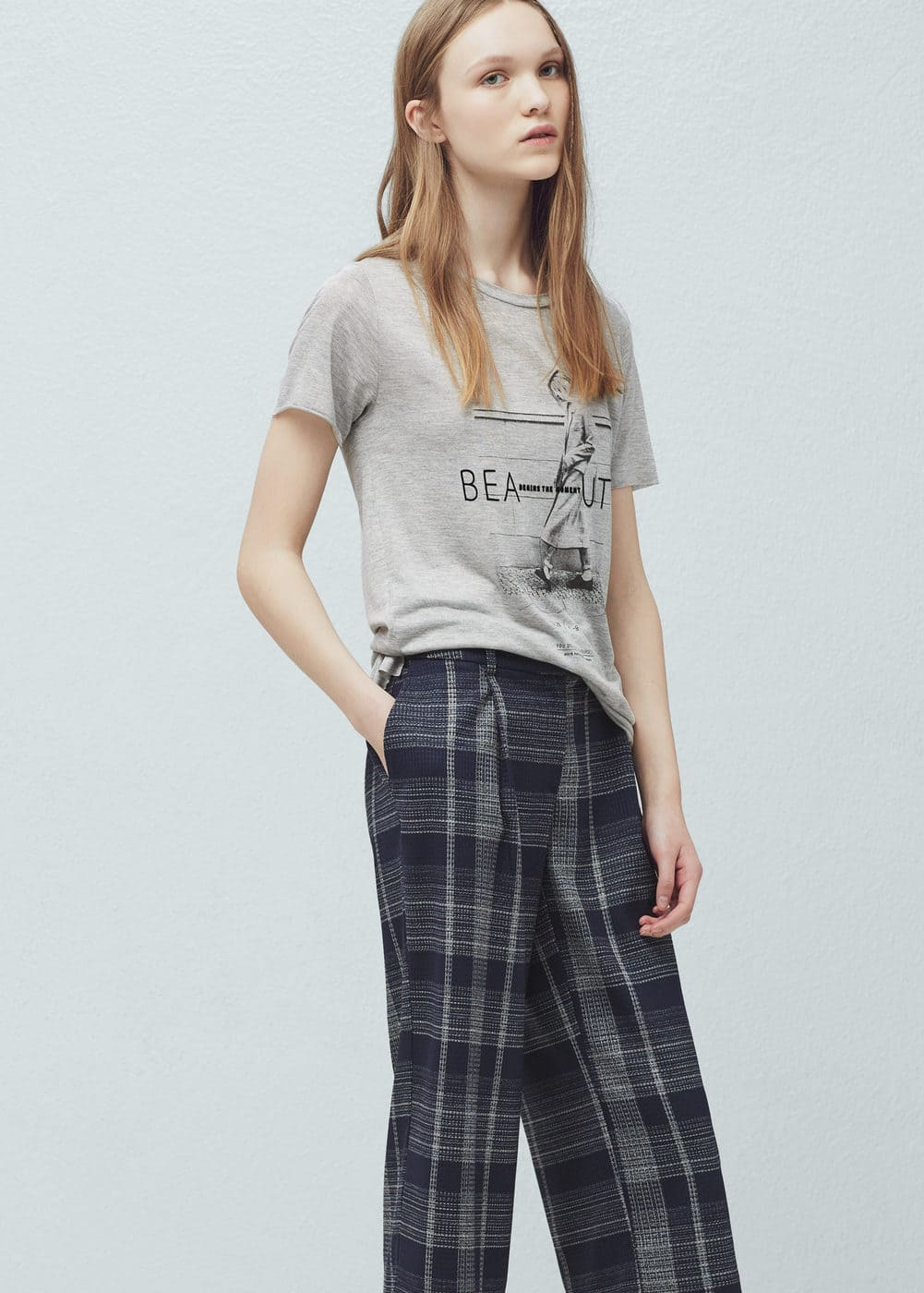 Printed image t-shirt | MANGO