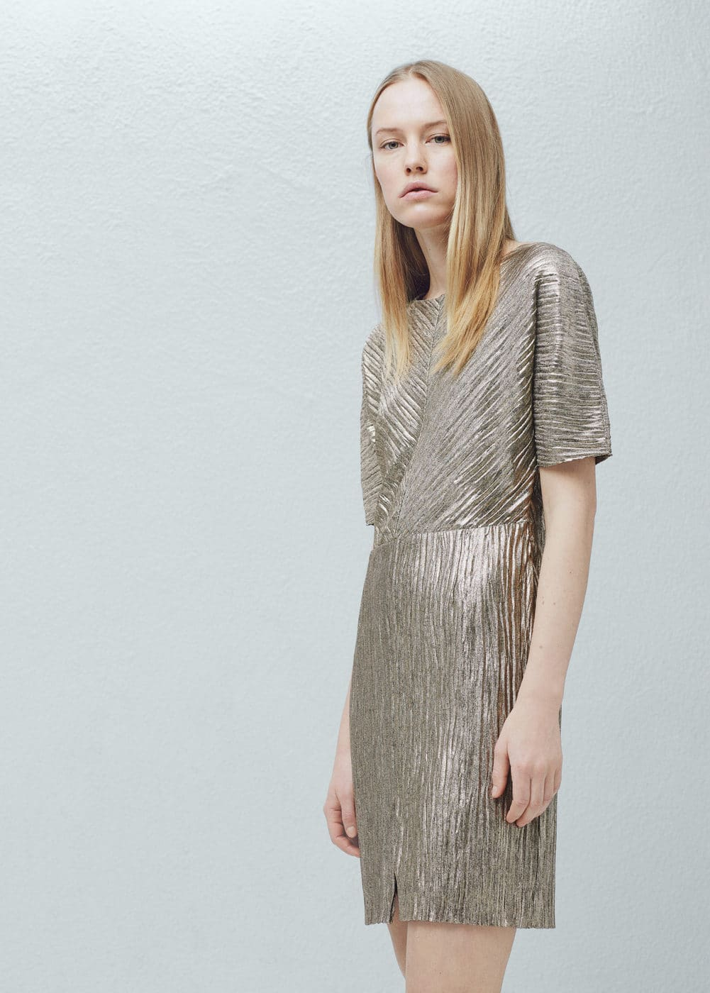 Metallic dress | MANGO