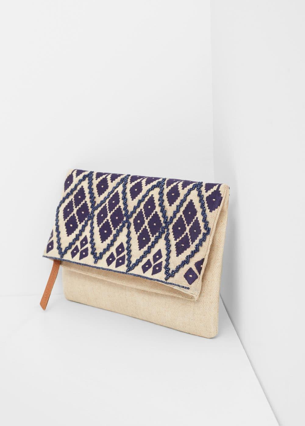 Embroidered envelope bag | MANGO