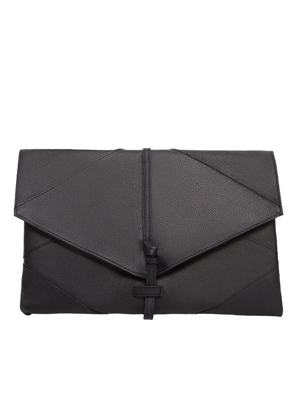4504c0a92eb34 Kapaklı deri zarf çanta - Kadın   Mango Türkiye