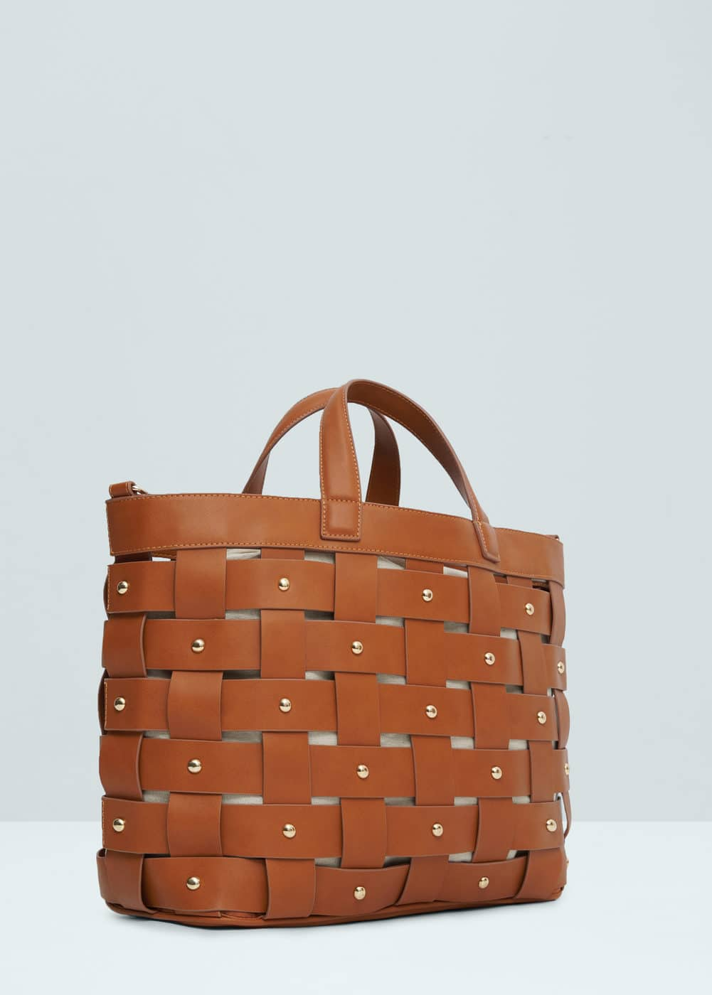 Interwoven shopper bag | MANGO