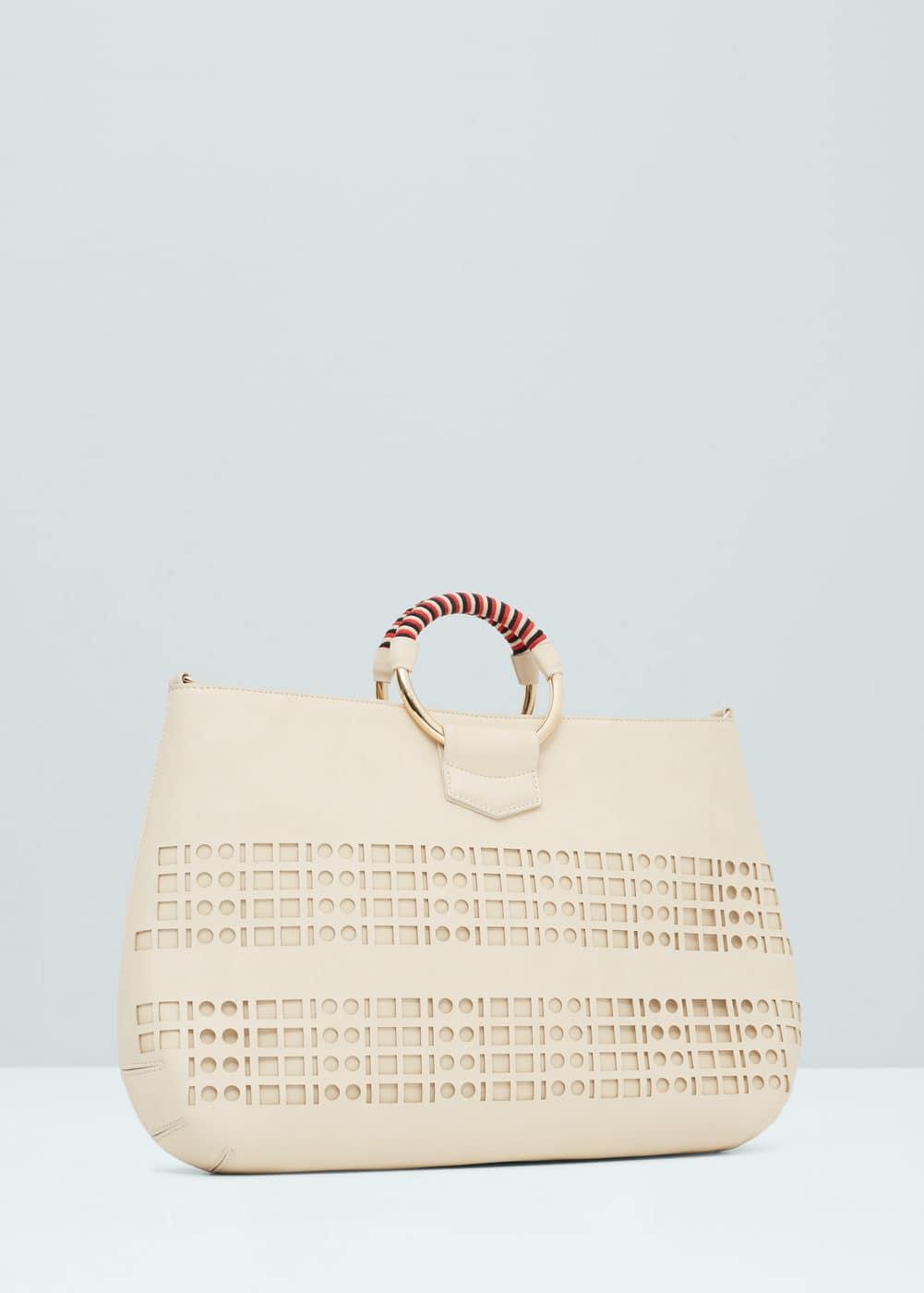 Panel tote bag | MANGO