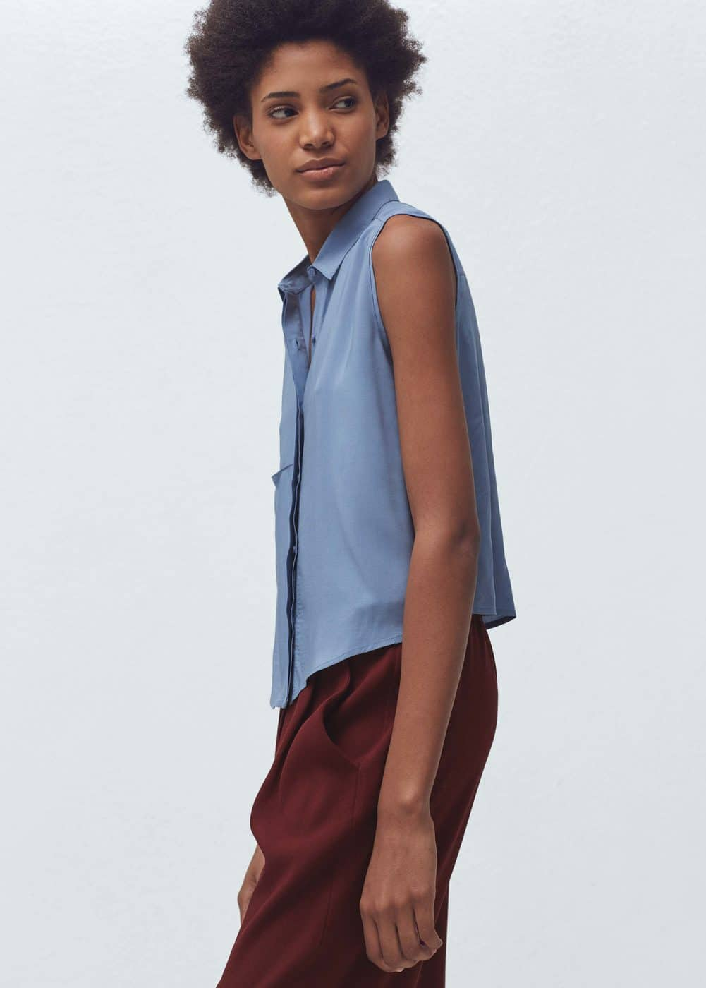 Flowy pocket blouse | MANGO