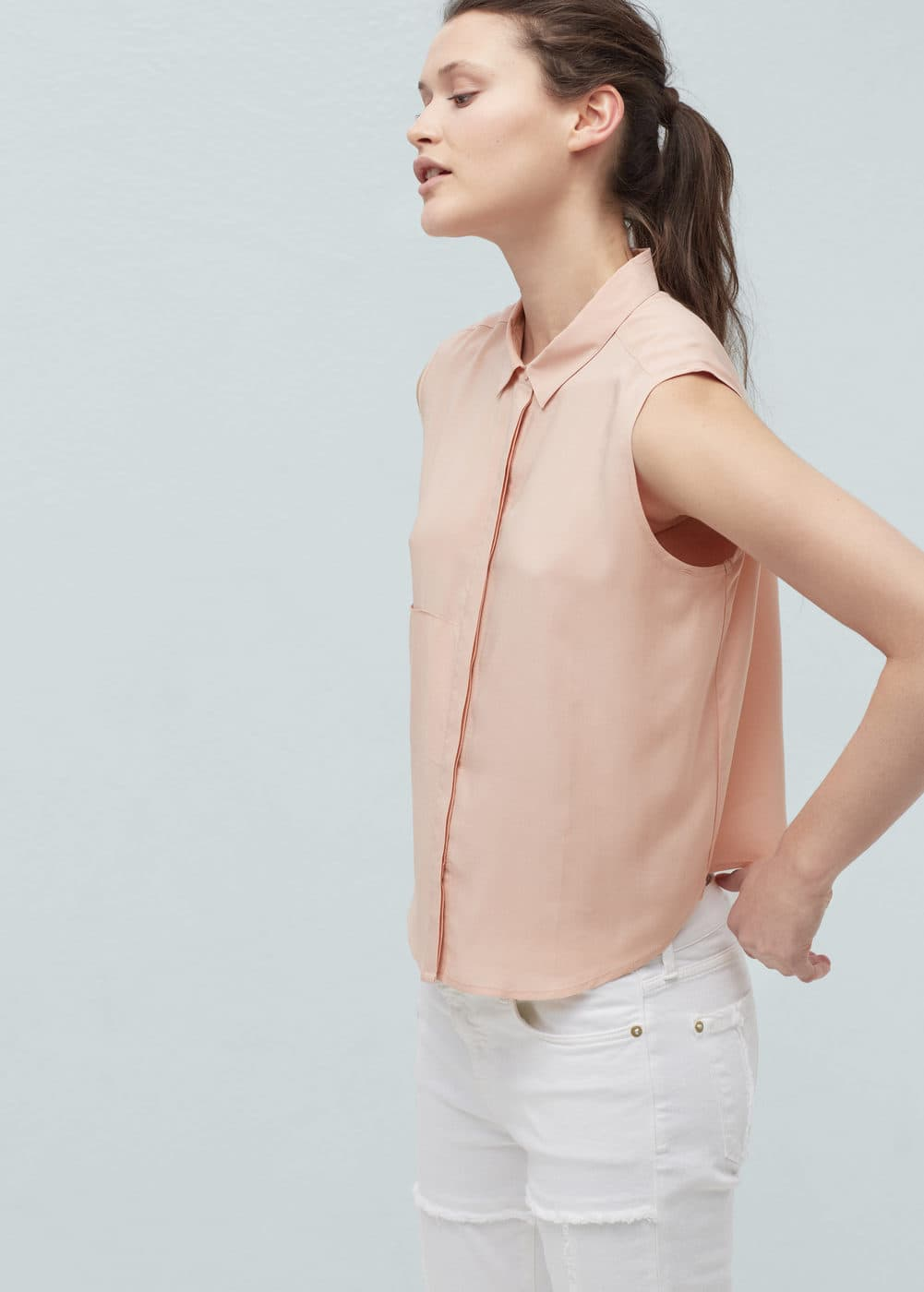 Flowy pocket blouse | MANGO