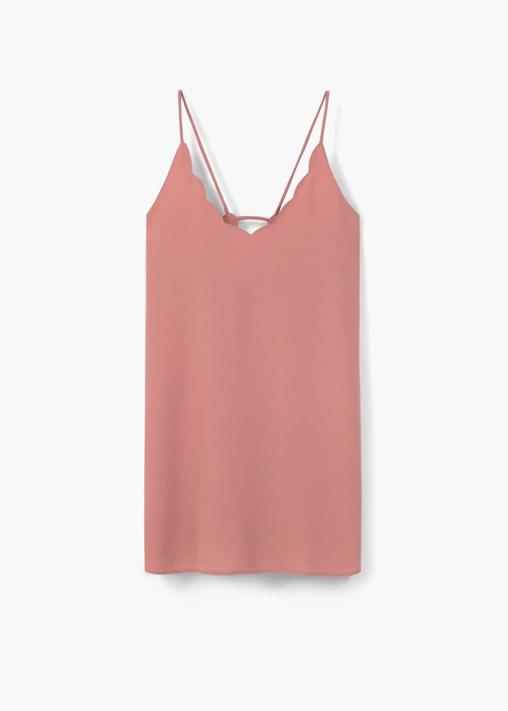 Sukienka z teksturą na ramiączkach | MANGO
