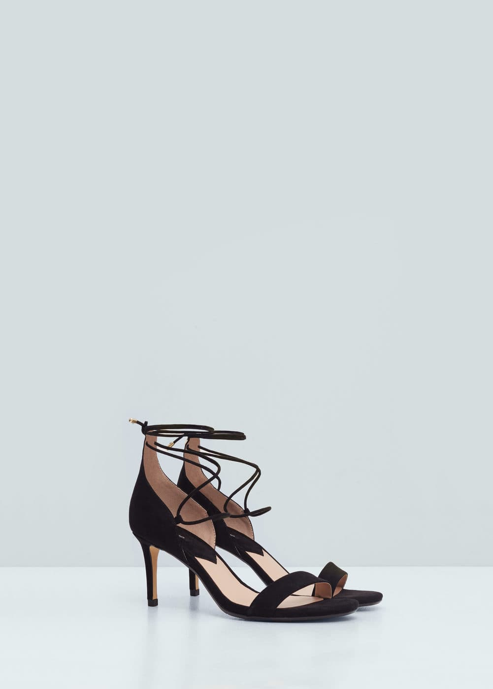 Lace-up heel sandals   MANGO