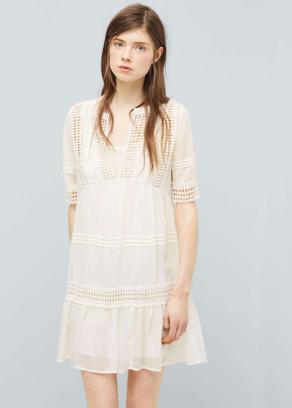Embroidered dress | MANGO