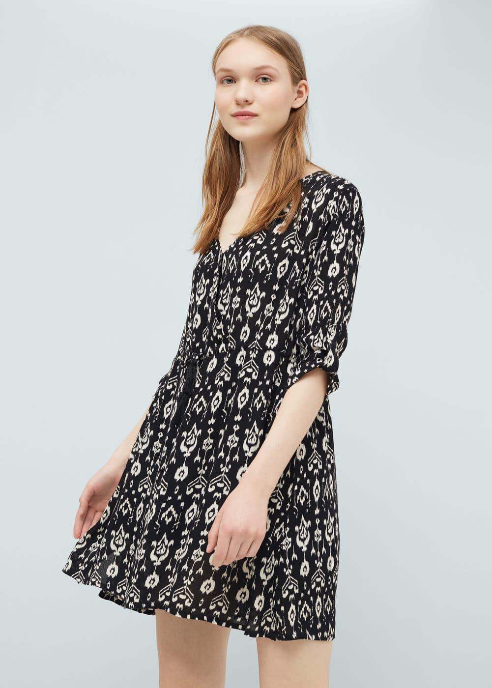 Flowy print dress | MANGO