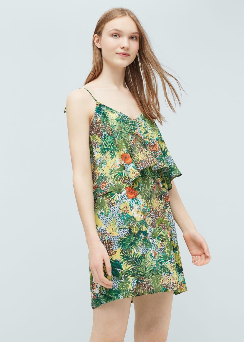 Ruffle printed dress | MANGO