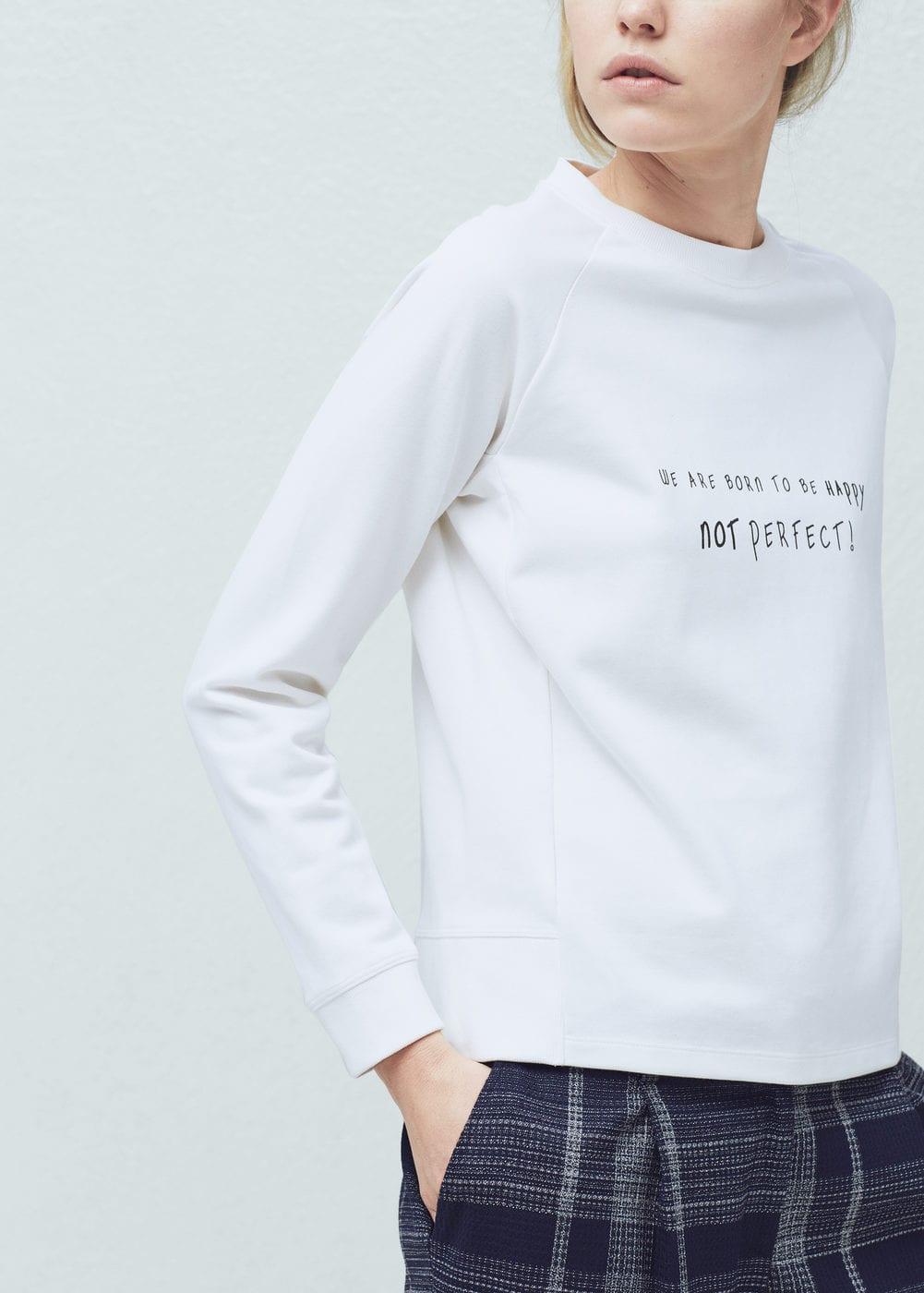 Message cotton sweatshirt | MANGO