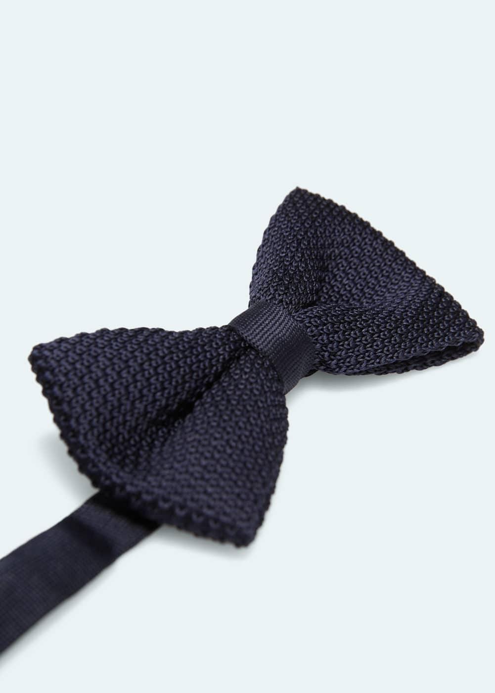 Knit bow tie | MANGO MAN