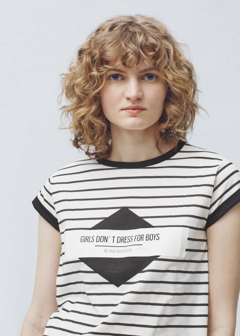 Printed cotton-blend t-shirt   MANGO