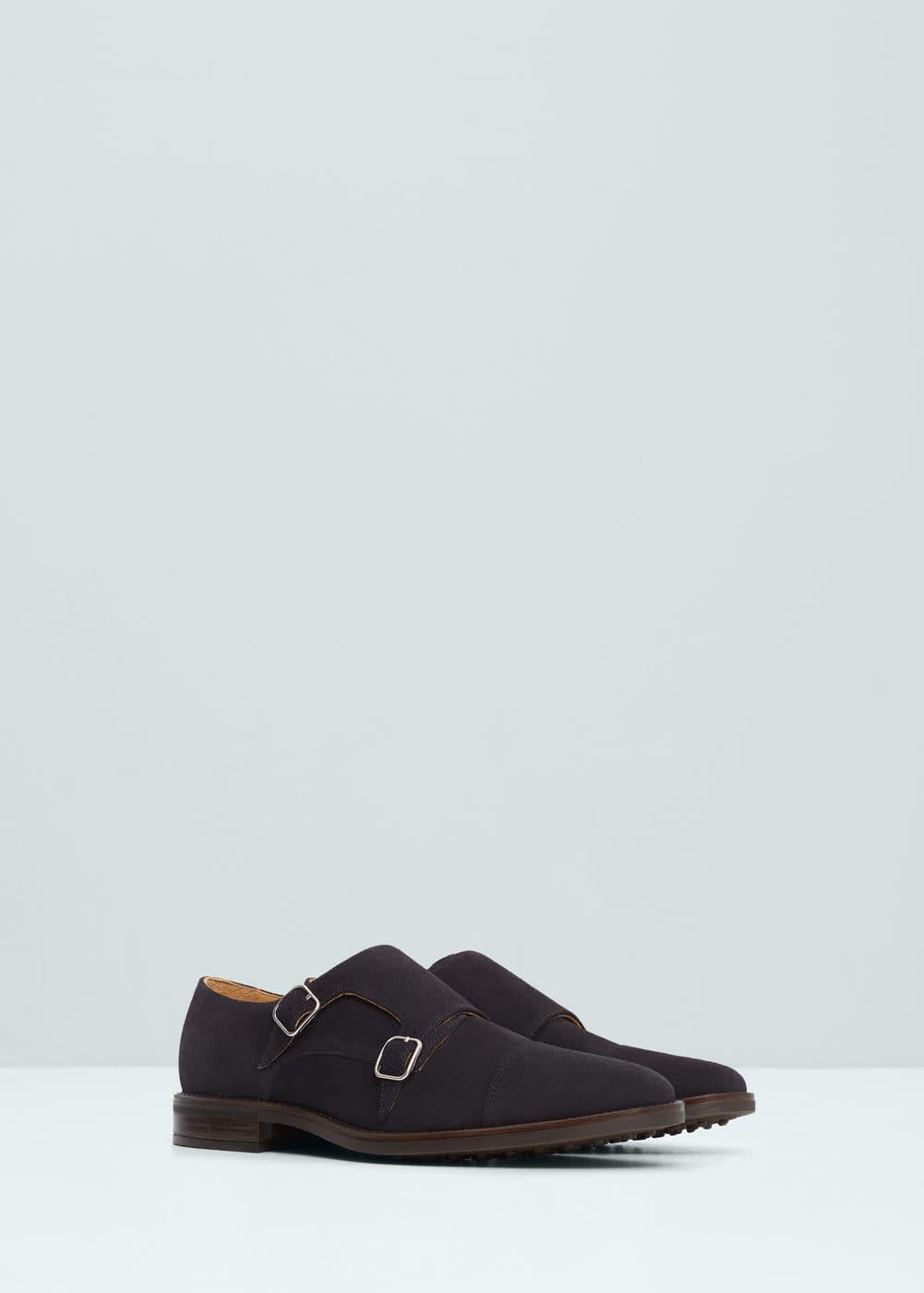 Skórzane buty monk strap | MANGO MAN