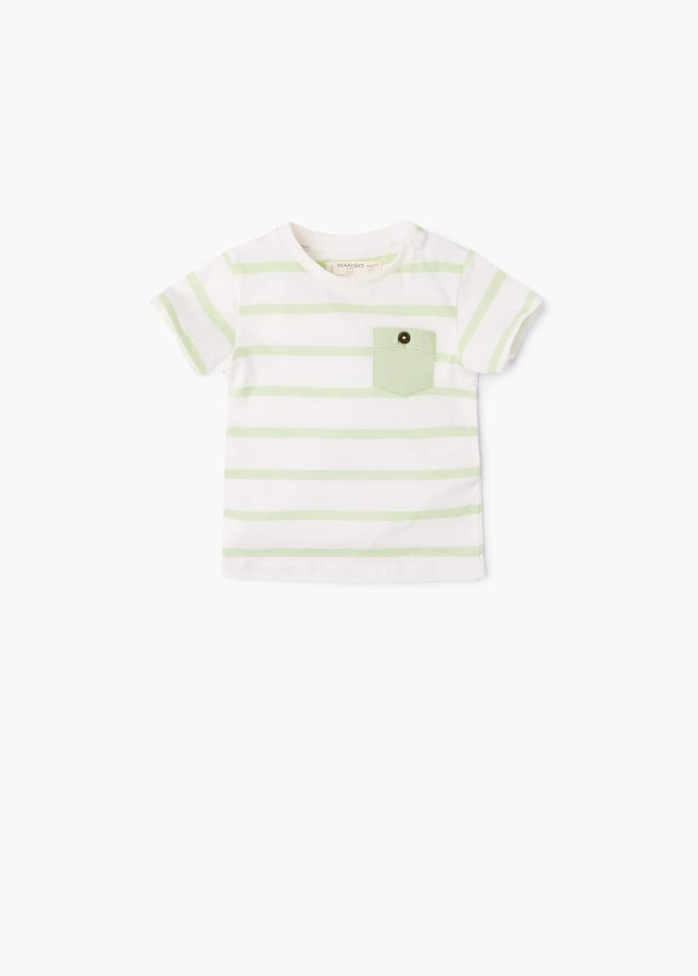 a809782bfe8 Striped cotton t-shirt - Boys | Mango Kids Albania