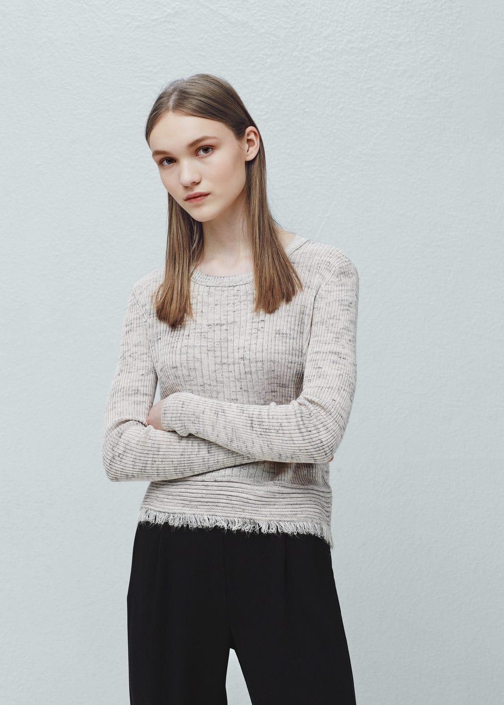 Ribbed sweater | MANGO