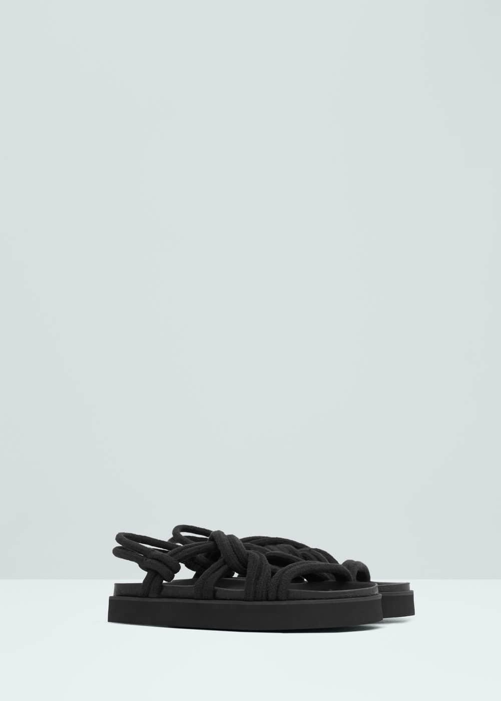 Interwoven cord sandals | MANGO