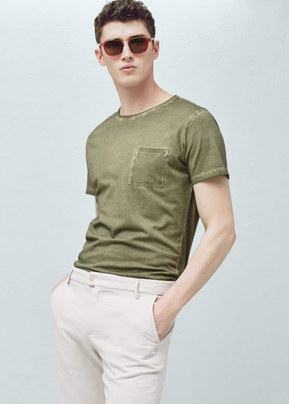 Garment-dyed t-shirt | MANGO