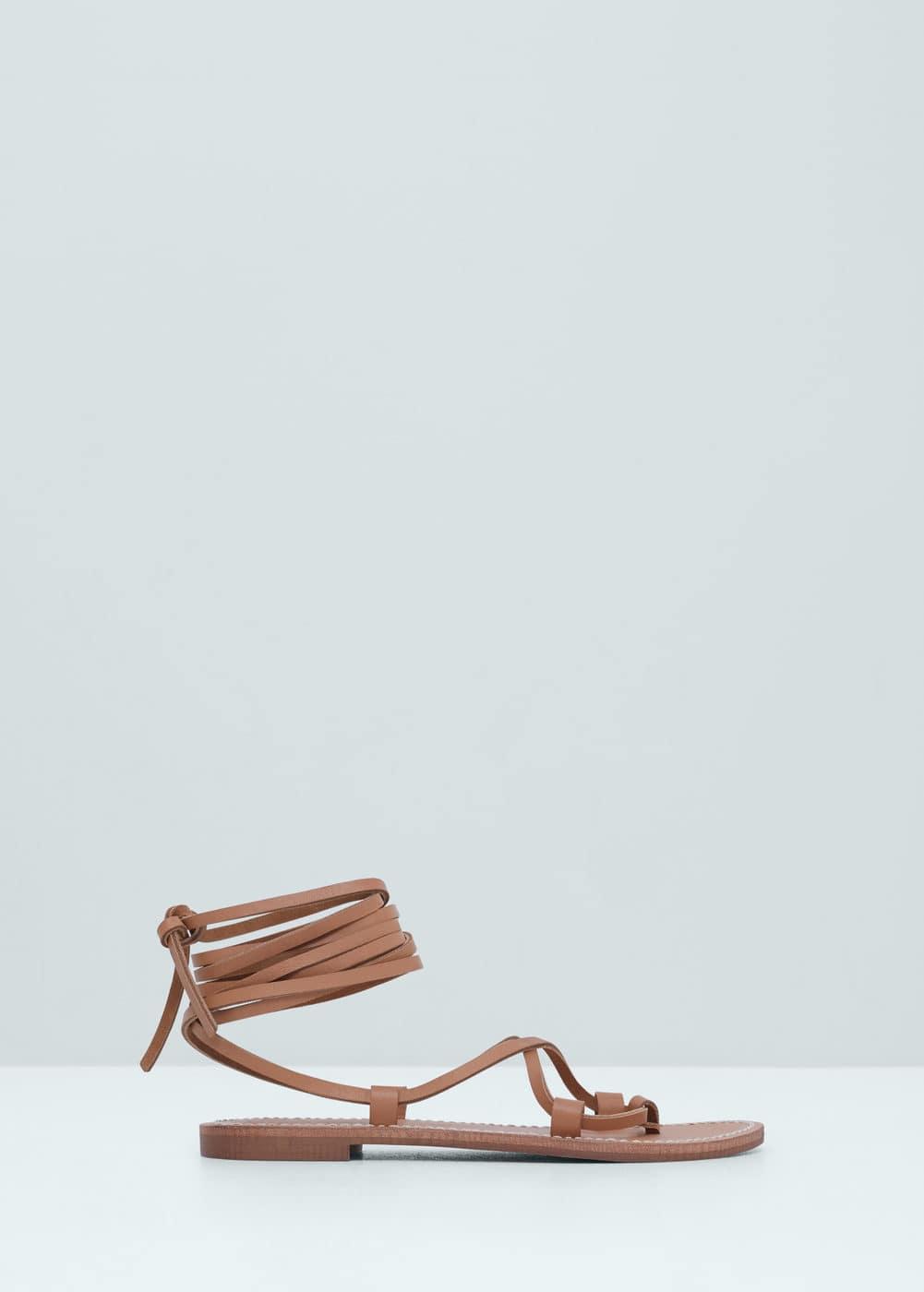 Sandales à lanières cuir | MANGO