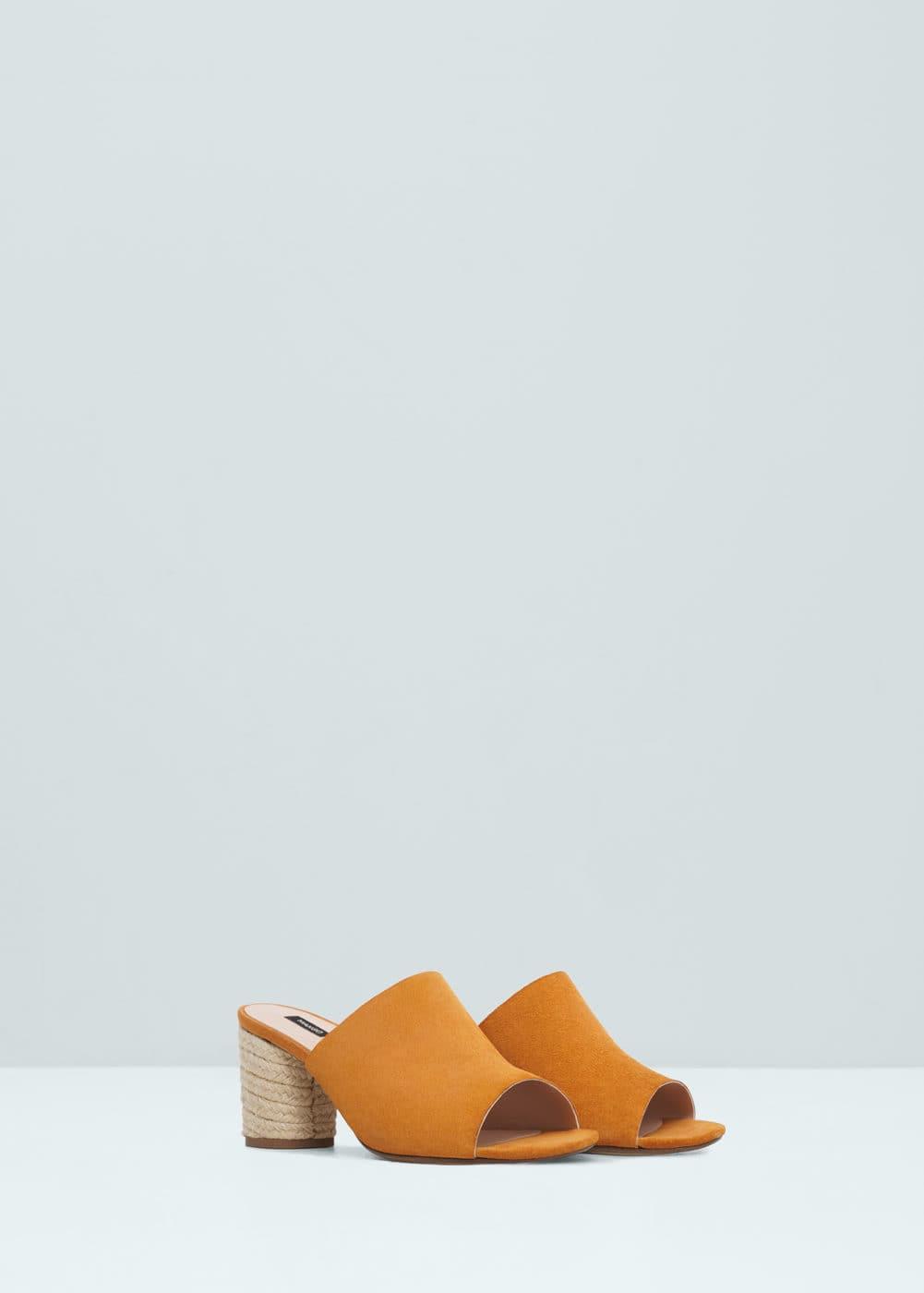 Sandalia piel esparto | MANGO