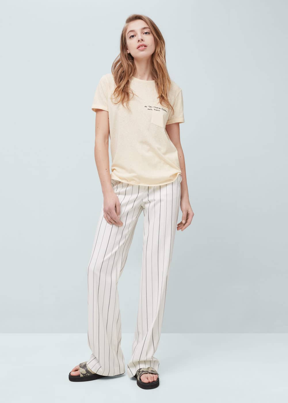 Pocket cotton t-shirt | MANGO