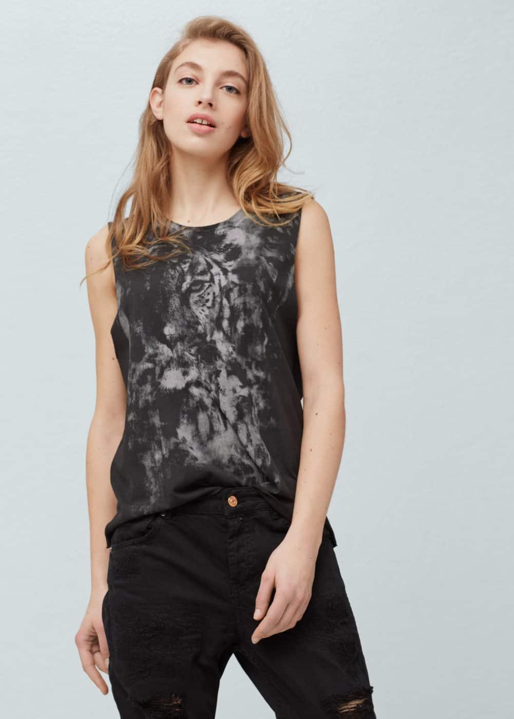 Cotton modal-blend t-shirt | MANGO