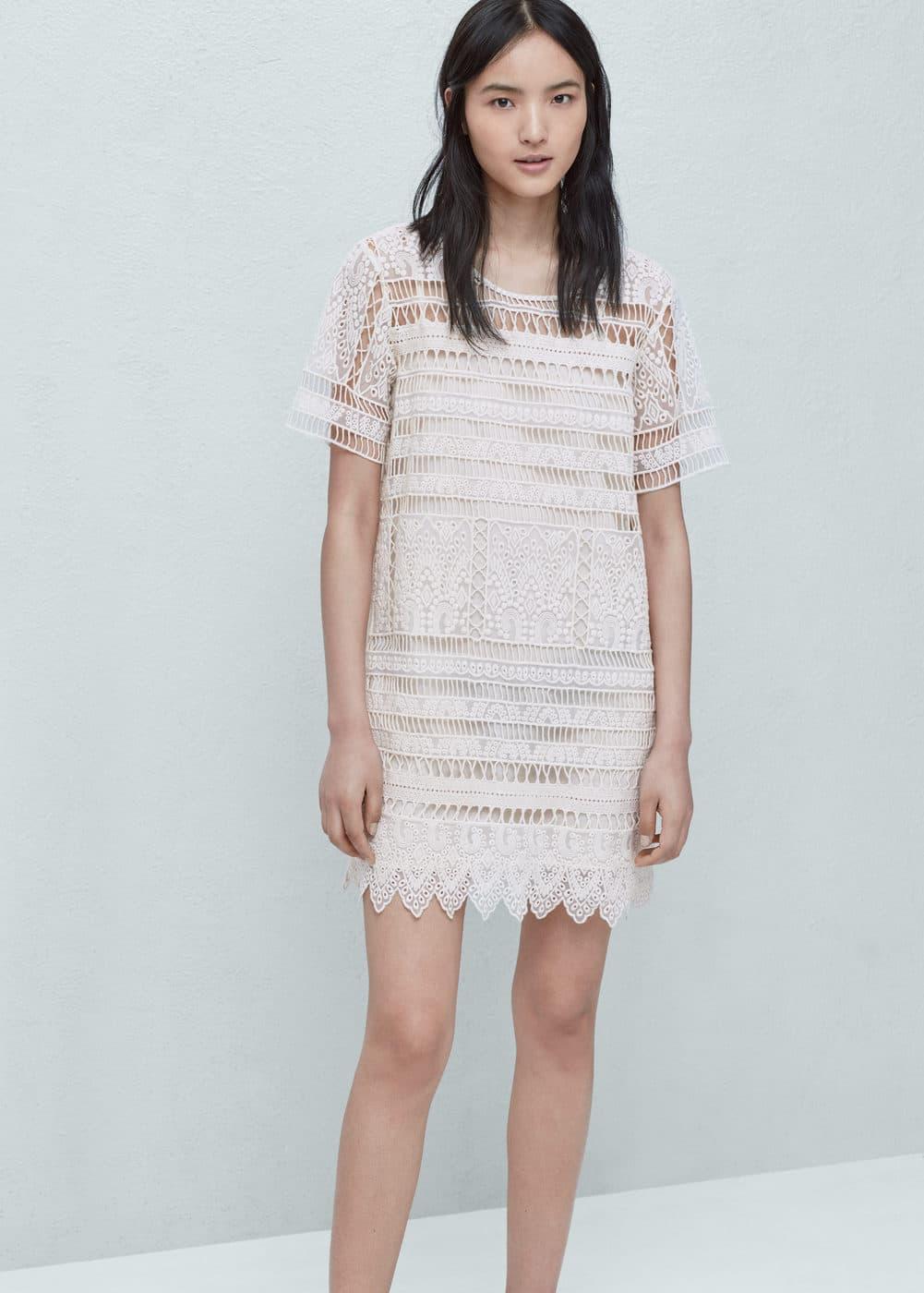 Haftowana sukienka | MANGO