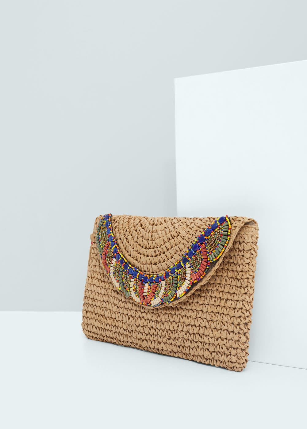 Decorative beads envelope | MANGO