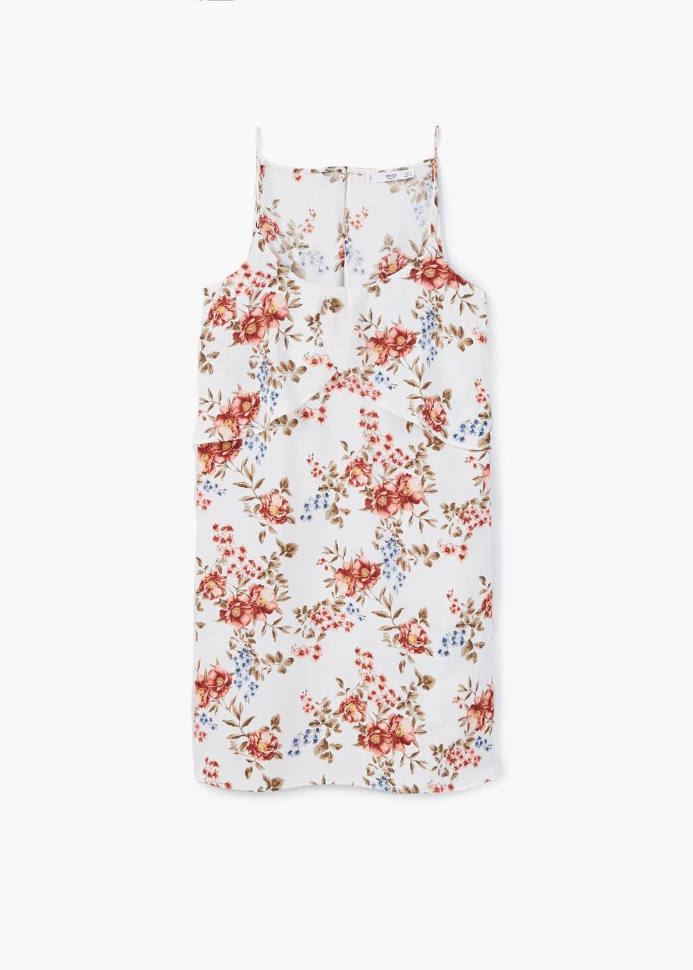Vestido estampado floral | MANGO