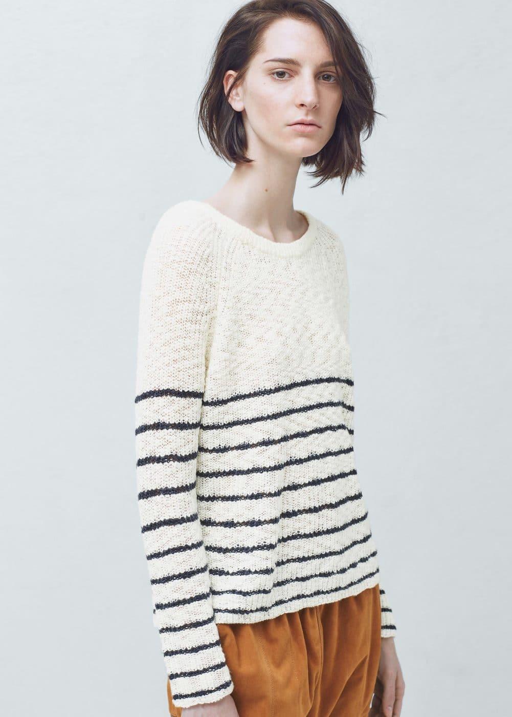 Striped sweater | MANGO