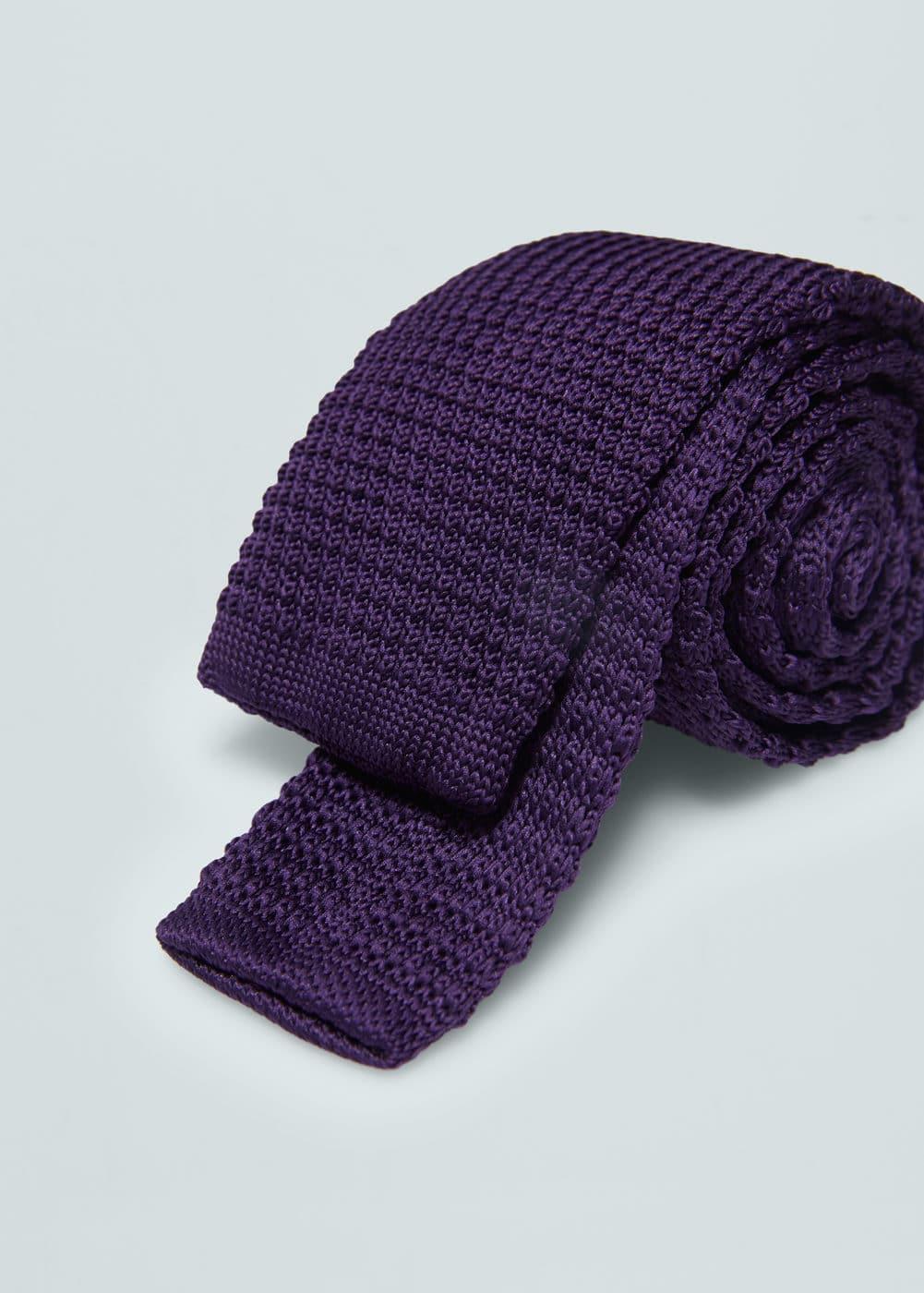 Dzianinowy krawat z teksturą | MANGO MAN