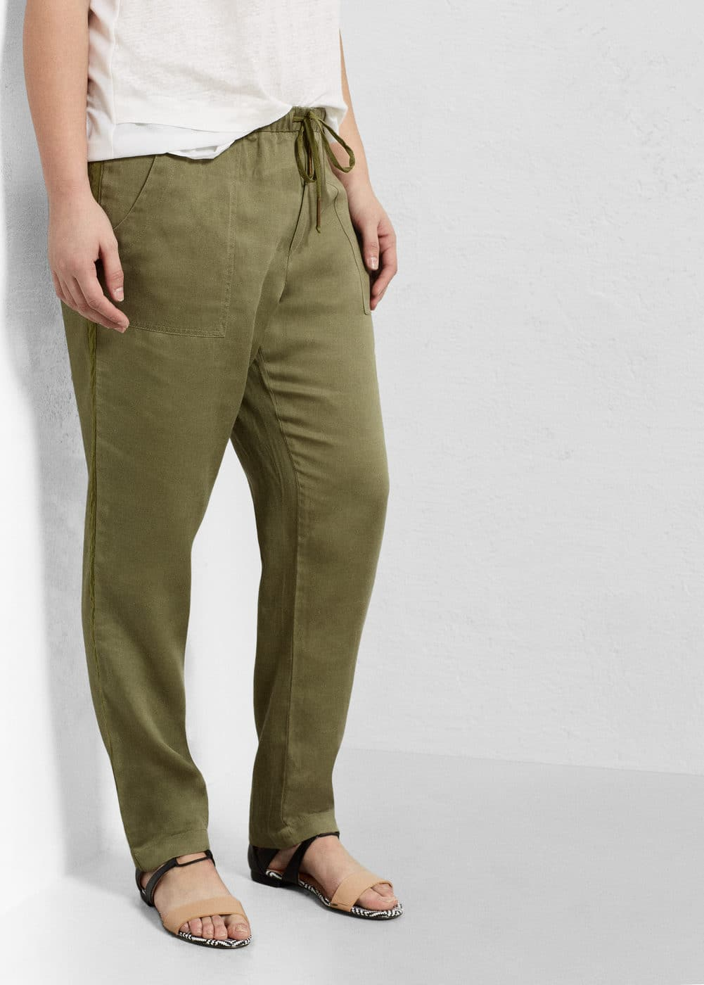 Baggy tencel® trousers | MANGO