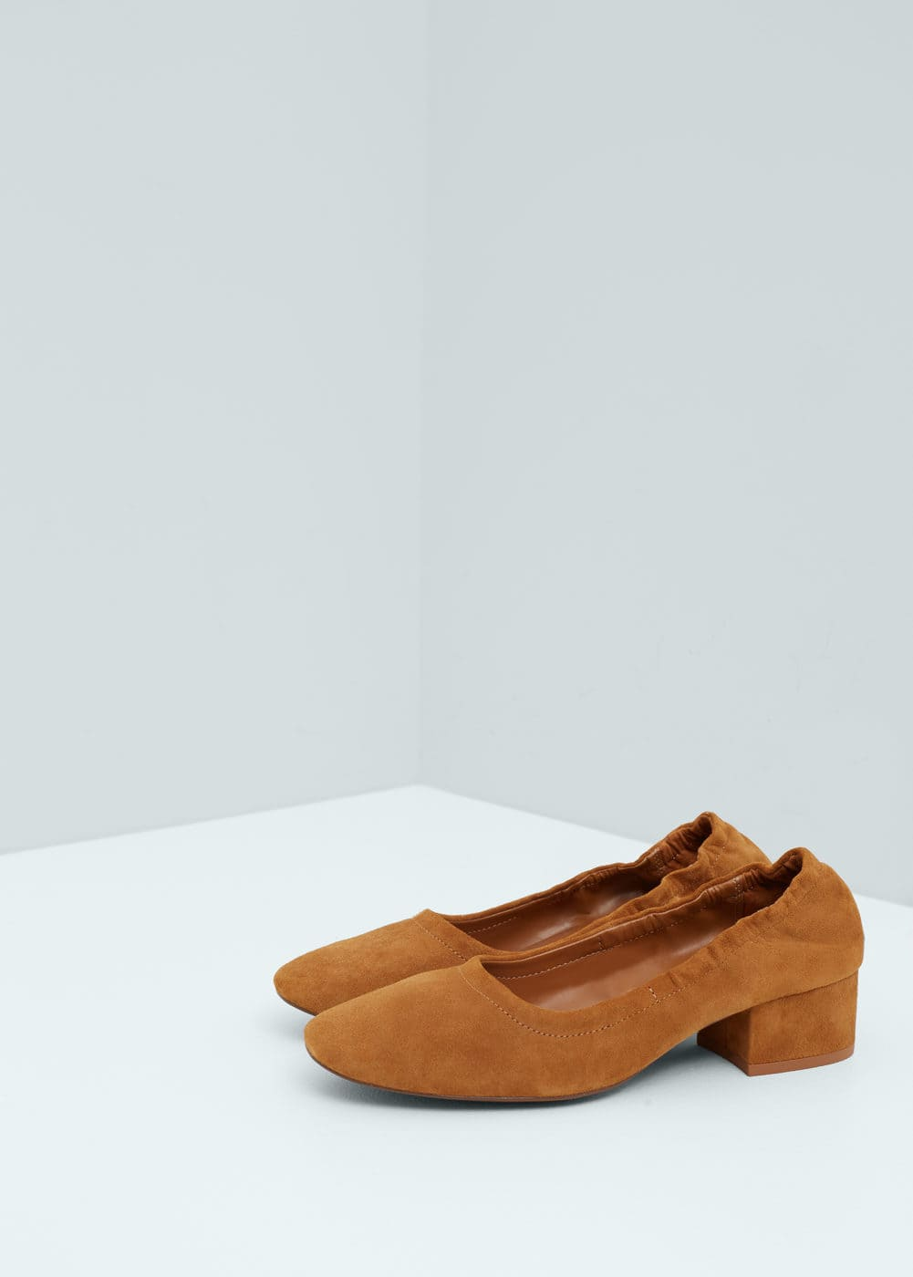 Heel leather shoes | MANGO