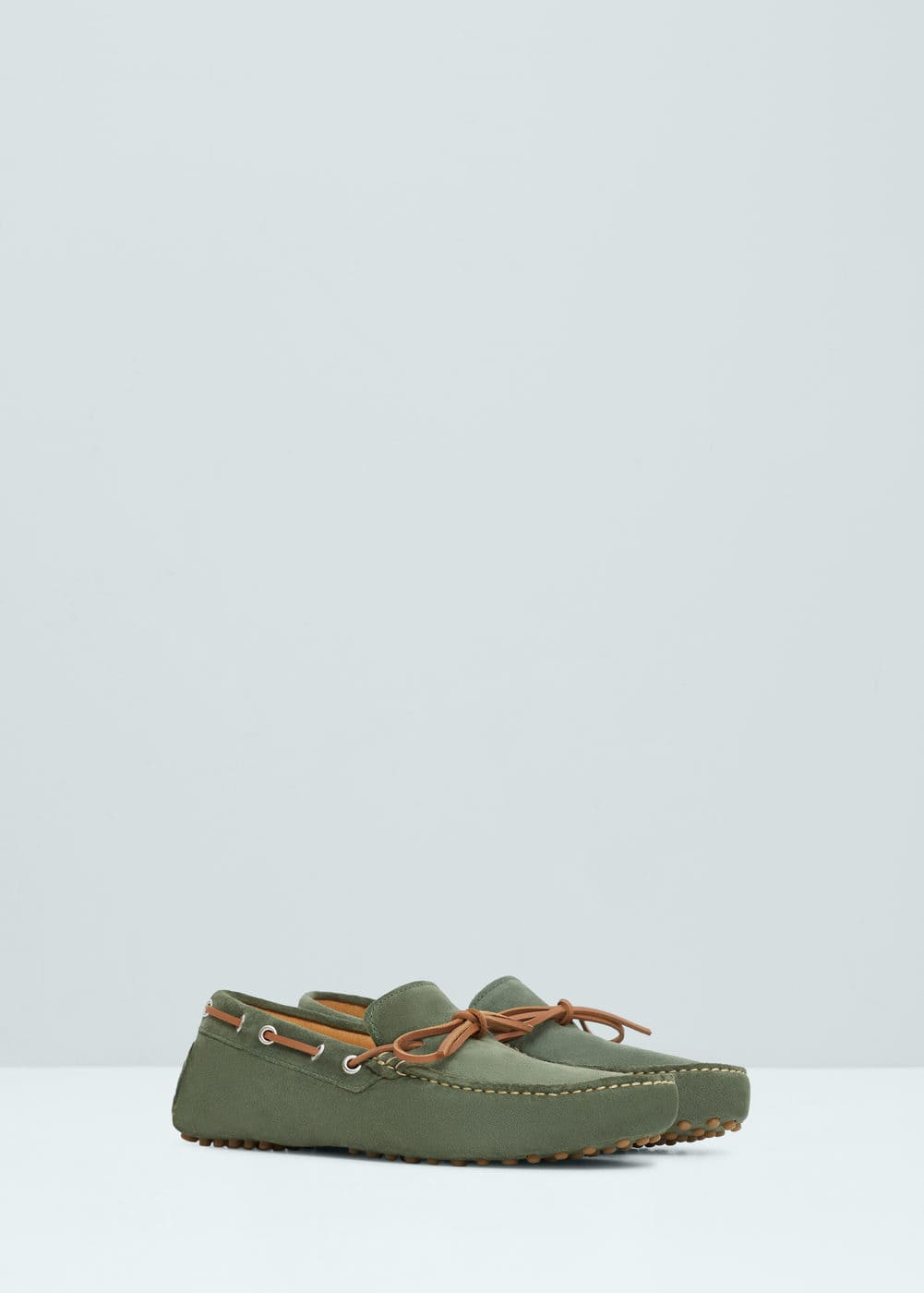 Leather driving shoes | MANGO
