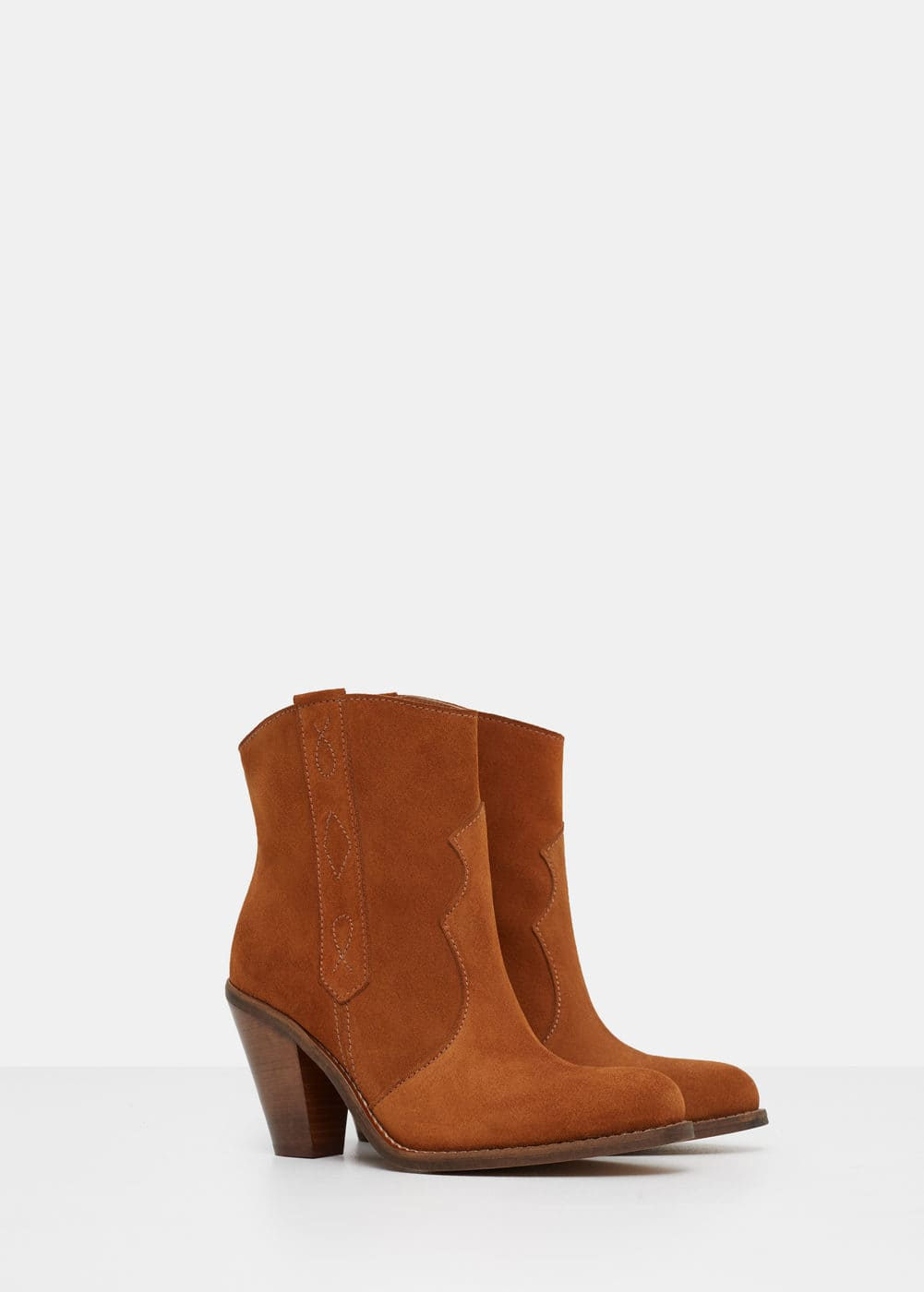 Leather ankle boots | VIOLETA BY MANGO