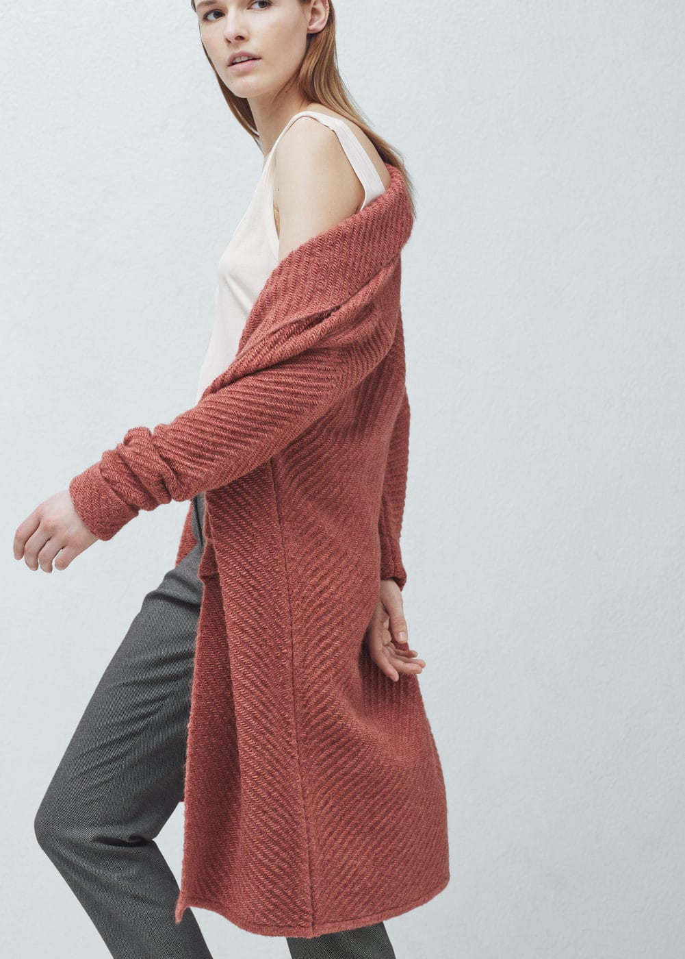 Striped design cardigan | MANGO