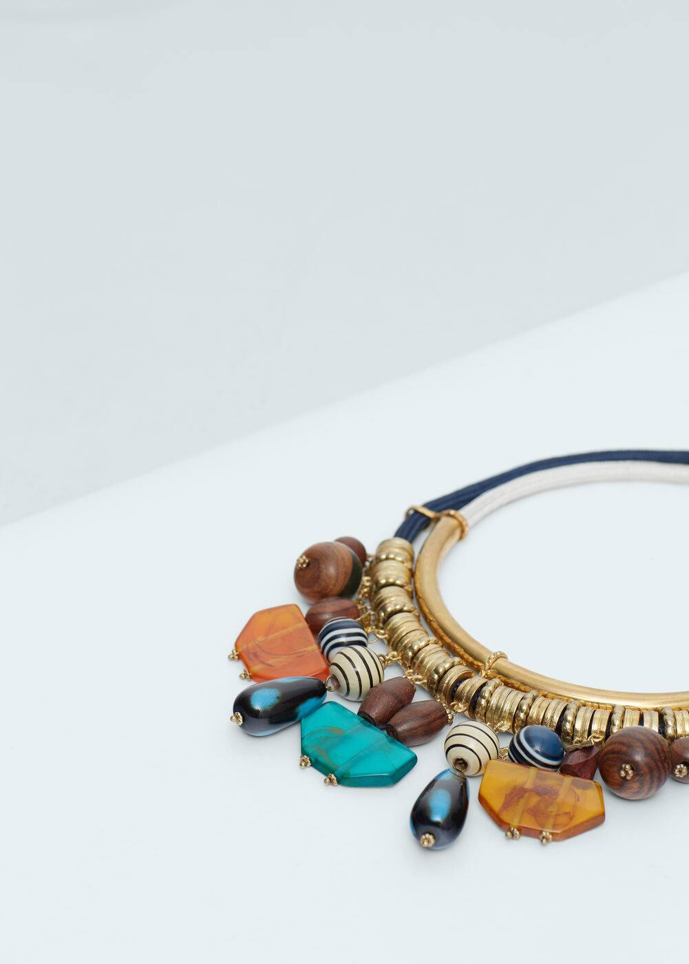 Mixed bead necklace | MANGO