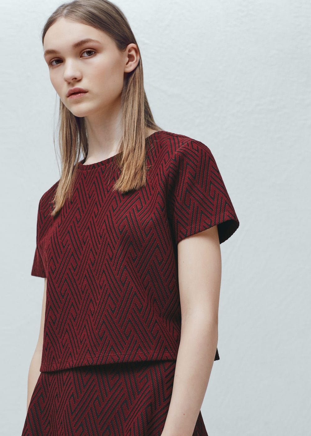 Bicolor t-shirt | MANGO