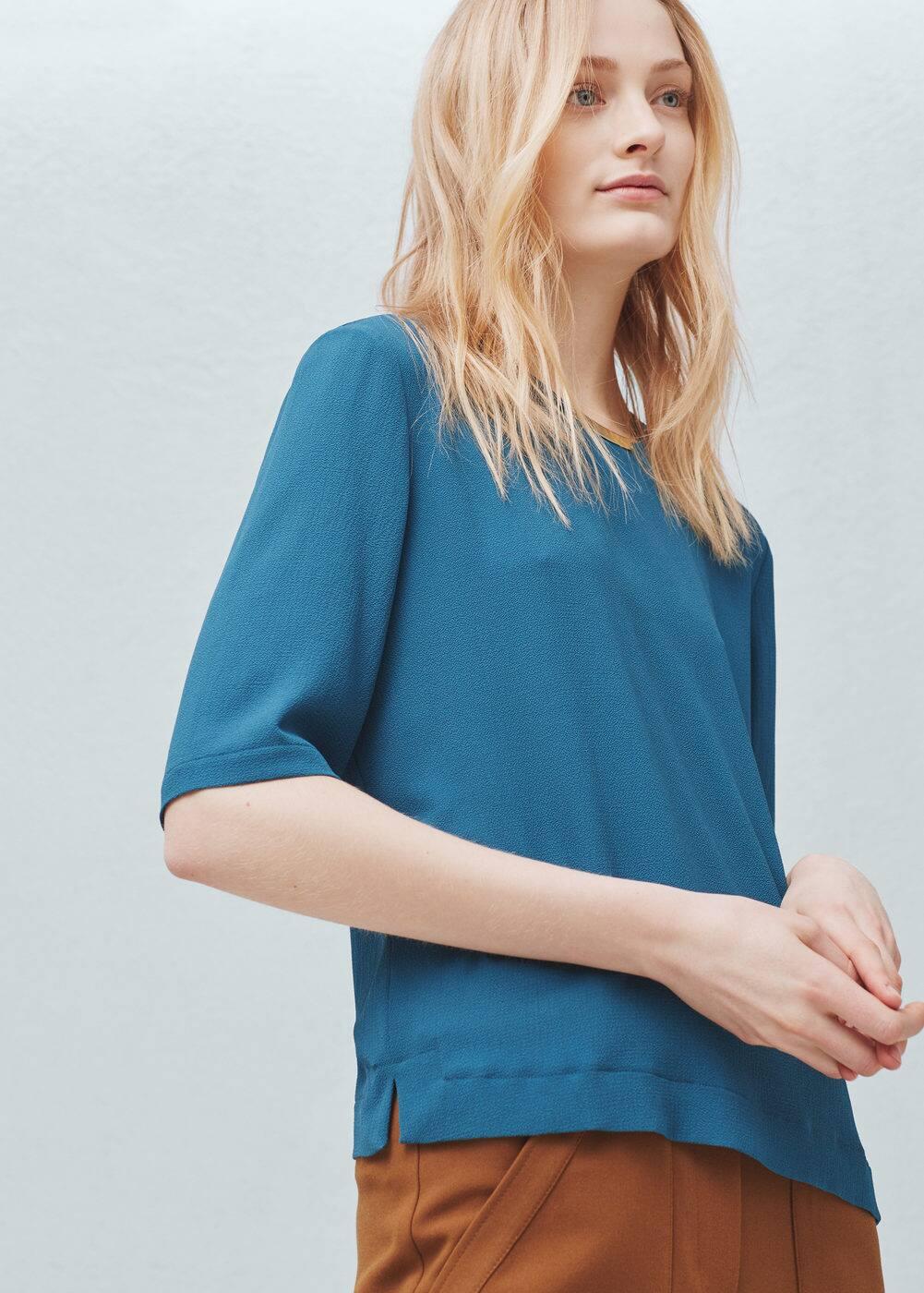 Metal appliqué blouse | MANGO