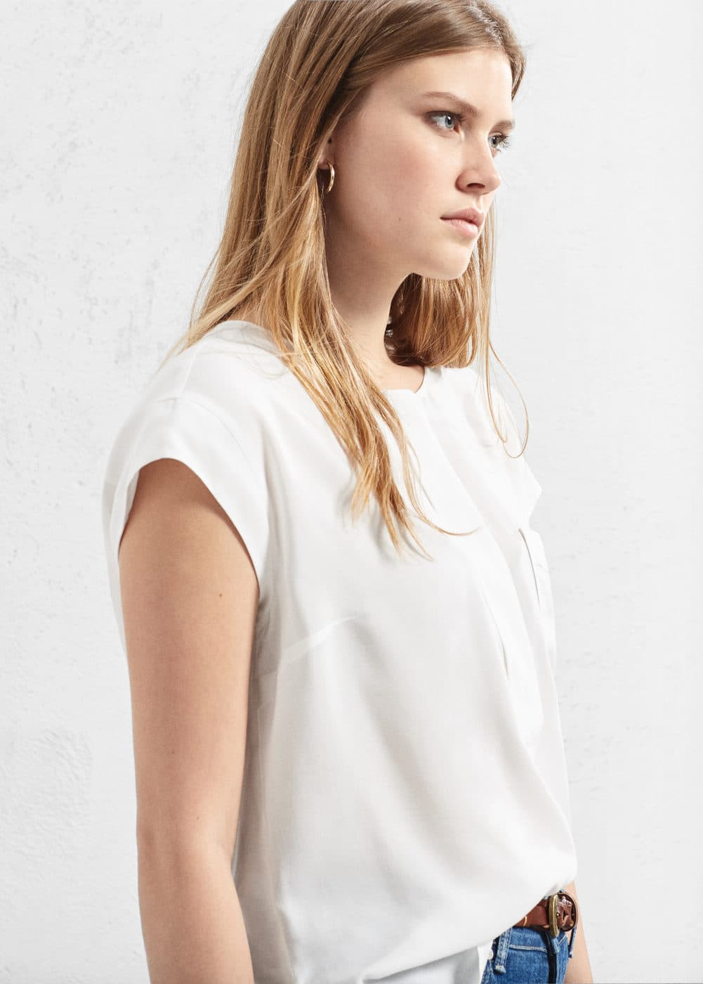 Flowy pocket blouse | VIOLETA BY MANGO