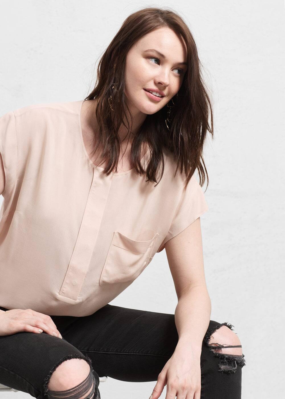 Flowy pocket blouse | VIOLETA BY MANGO